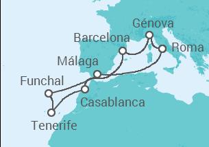 Itália, Espanha, Marrocos, Portugal