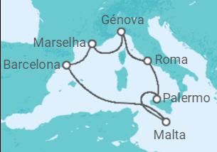 Espanha, França, Itália, Malta