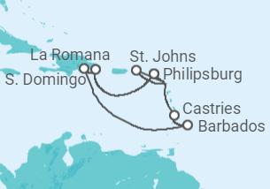 Ilhas do Caribe - saindo de St. Domingo