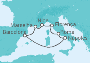 Brisas do Mediterrâneo - saindo de Barcelona