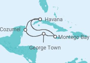 Cuba, Jamaica, Ilhas Cayman, México