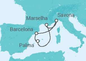 Itália, Espanha, França